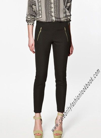 $36.99 Zip Jersey Riding Pants - Basics #basicpants #basics #pants #fashion #crop Free shipping worldwide