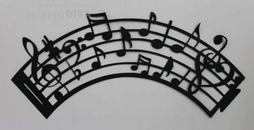 Musical cupcake wrapper cutting file in SVG format, $4.00 CAD ... just added to my store.