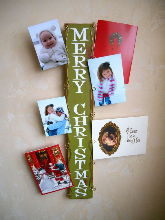 Christmas Card Display Photo Holder Vertical Wall by milliemoments