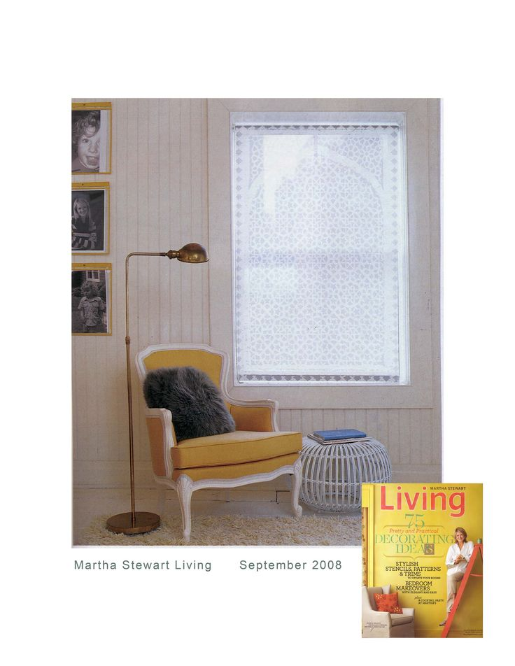 Delia Shades Featured In The September 2008 Issue Of Martha Stewart Living Its Bedroom