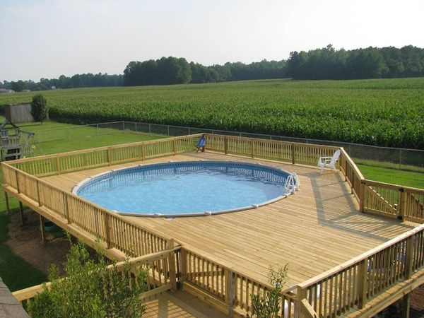 Pictures of above ground swimming pools bing images for for Cheap above ground swimming pools
