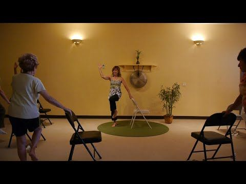 Exercises to Get Rid of a Flabby Stomach: Chair Yoga sequences with Sherry Zak Morris, E-RYT - YouTube