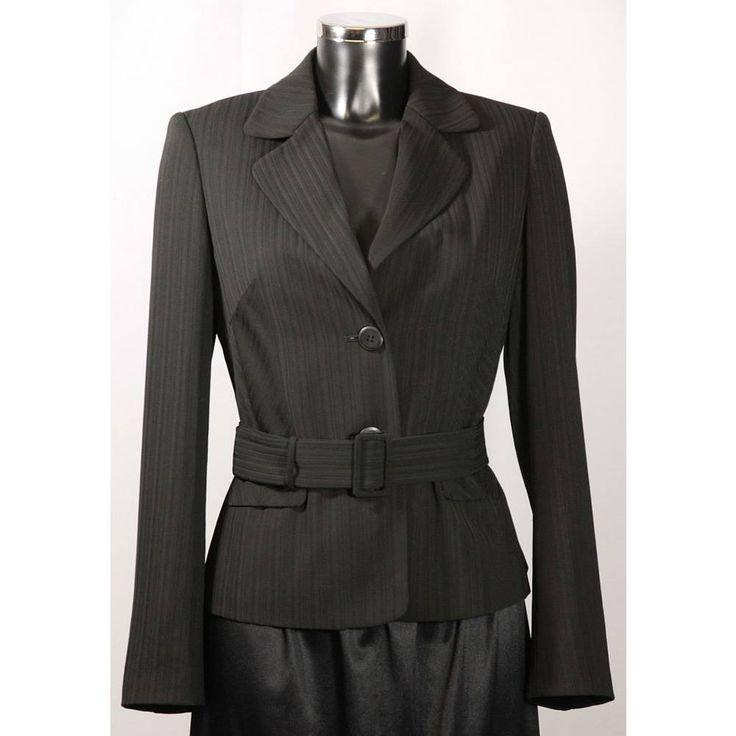 Marks and Spencer jacket with belt size 10 black M&S Marks & Spencer - Size: 10 - Black