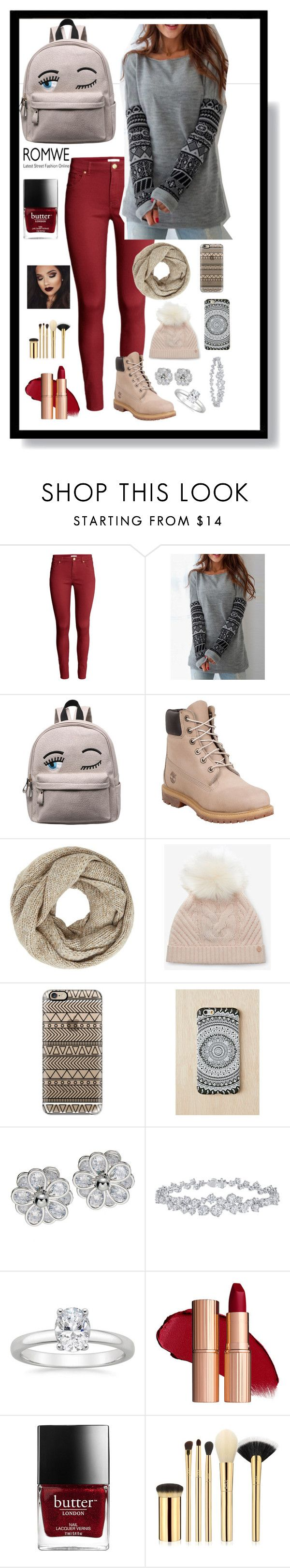 """""""Sweater Weather"""" by kaileewhaley13 ❤ liked on Polyvore featuring H&M, Timberland, John Lewis, Ted Baker, Casetify, Urban Outfitters, Harry Winston and tarte"""