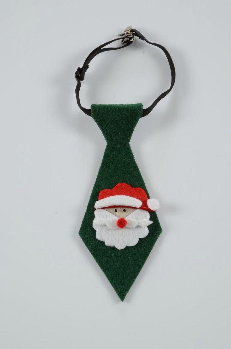 Noel baba keçe kravat