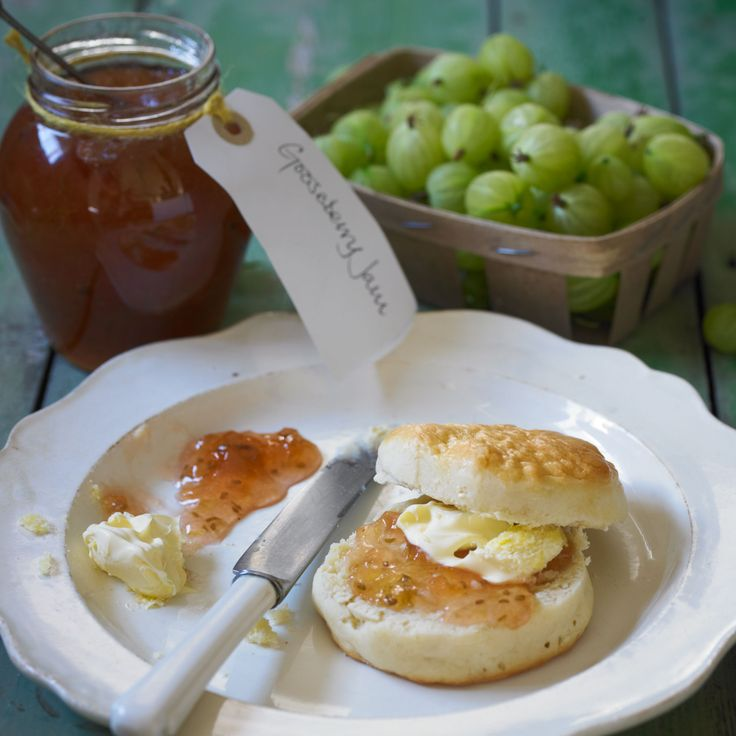 Gooseberries and elderflowers have such a short season that it is well worth preserving their lovely flavour in a jam. As gooseberries are both high in acid and pectin this jam sets very quickly. The most laborious task is topping and tailing the gooseberries, but will improve the finished jam.