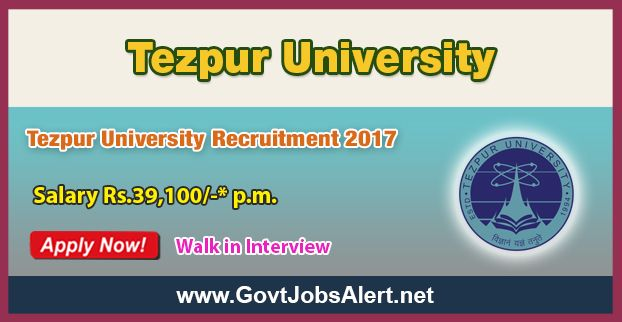 Tezpur University Recruitment 2017 - Hiring Internal Audit Officer, Medical Officer, Assistant Director and other Posts, Salary Rs.39,100/- : Apply Now !!!  The Tezpur University Recruitment 2017 has released an official employment notification inviting interested and eligible candidates to apply for the positions of Internal Audit Officer, Medical Officer, Assistant Director, Junior Programmer, Senior Technical Assistant, Technical Assistant, Junior Accountants, Library As