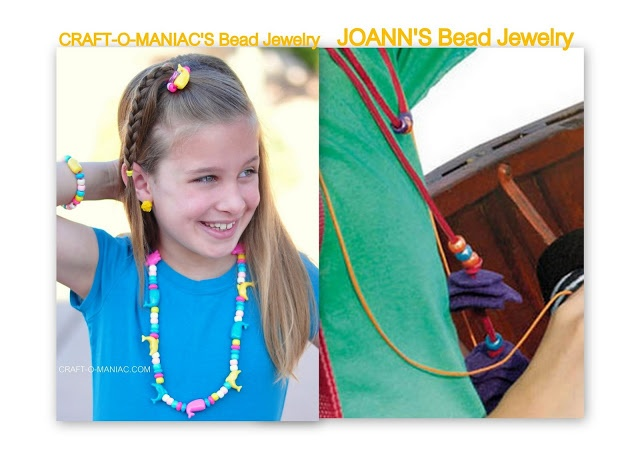 Craft-O-Maniac: JOANNS Summer of Kids Craft ~ Beaded Jewelry #summerofjoann