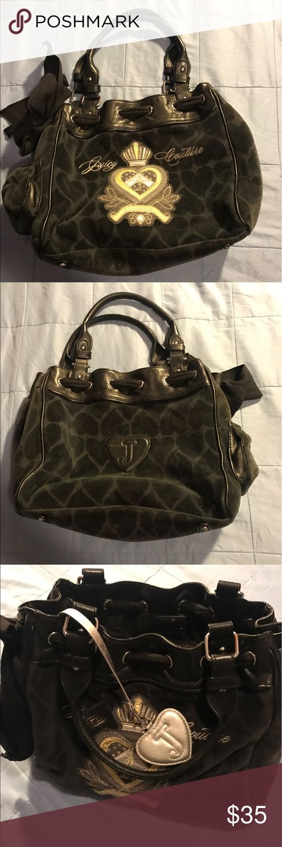 WOMENS JUICY COUTURE LARGE SUEDE LEATHER HANDBAG Large handbag. MSRP $299. 100% authentic Juicy Couture leather and suede. any questions about this item pls comment. Juicy Couture Bags Shoulder Bags