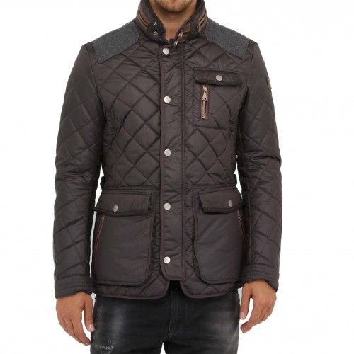 Handstich Kent. Sophisticated silhouette and details refines the practical features of this sleek jacket. The stand-up collar with snap tab has a zipper to conceal the hideaway hood. Patch chest and side pockets all feature zip detailing for additional...