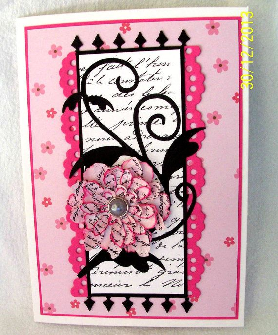 A very pretty blank card for a birthday thank you or by KayaDoll