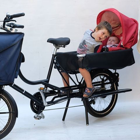 #Justlong #combined solution for #brother and #baby #shuttle together in #safespace #inglesina #cargobike #longtail #family #transportation