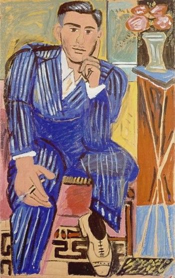 The thinking, 1936 by Yannis Tsarouchis.