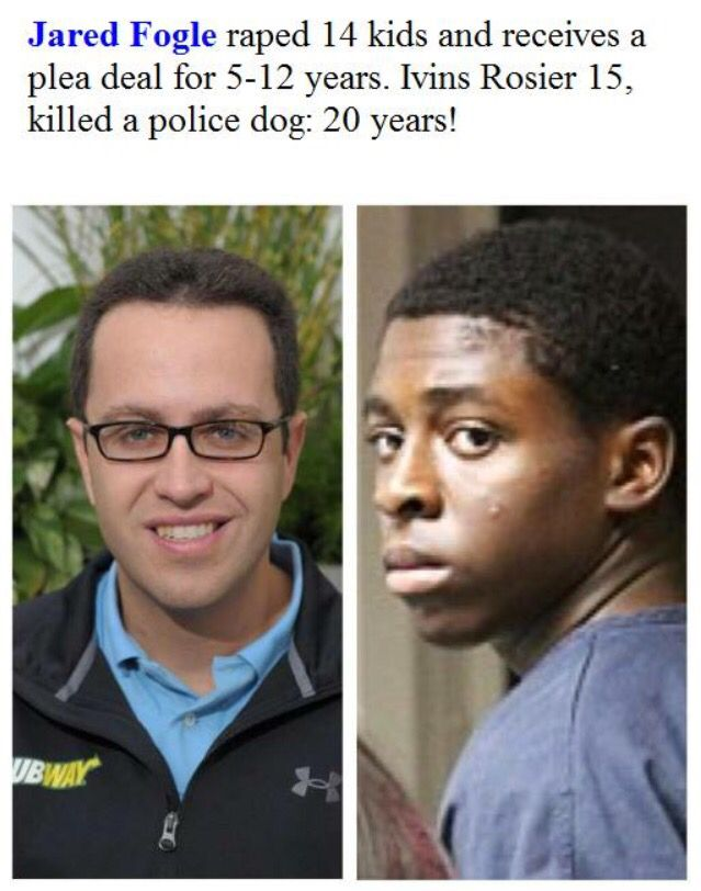 And you wonder why so many Blacks are Protesting and Fighting back. Neither crime was right but the sentencing is a Disgrace. There will be NO PEACE in this country until Injustices like this are Fixed and Undone. There will be NO PEACE for anyone of any color. Wake Up America!