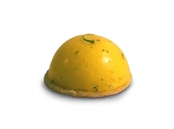 Mojito|  Mousse ligera de lima y menta con crema de lima y bizcocho tierno de almendra. | #JosepMRodriguez #laPastisseriaBarcelona