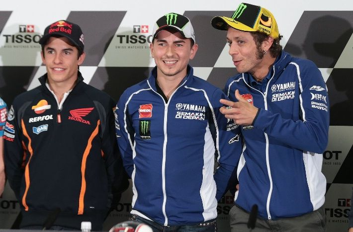 """I want to try and help Jorge as much as possible on Sunday and also to arrive on the podium"""" – Valentino Rossi."""