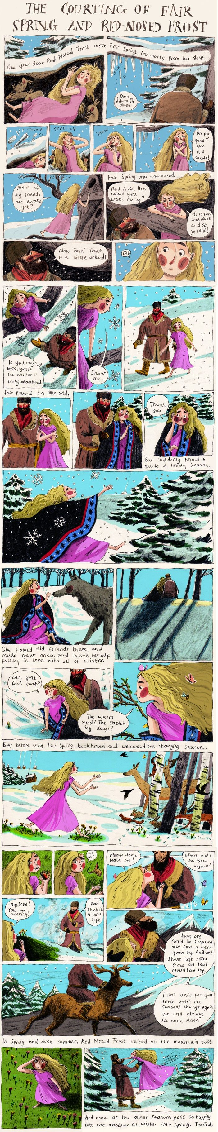 A comic inspired by the Russian folktale, The Snow Maiden by Briony May Smith