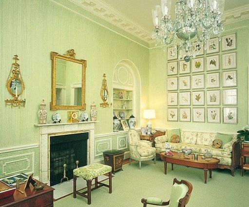 For Her Office, Nancy Reagan Favored Retaining Existing White House  Furniture, Which She Had Refurbished. The Wildflower Prints Were Reproduced  From 1925 ...