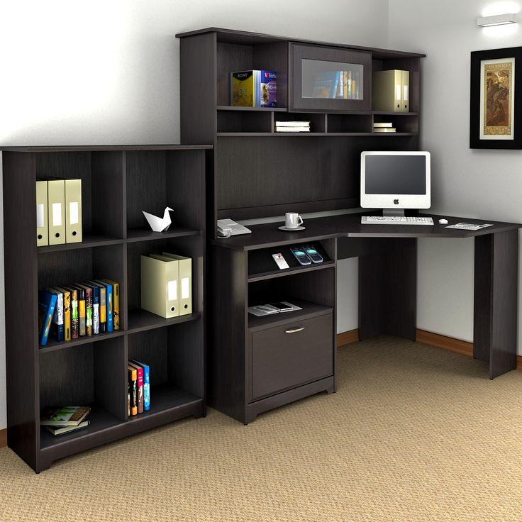 Bush Industries Cabot Corner Desk with Hutch and Bookcase & Reviews |  Wayfair - Best 25+ Corner Desk With Hutch Ideas On Pinterest L Shaped Desk