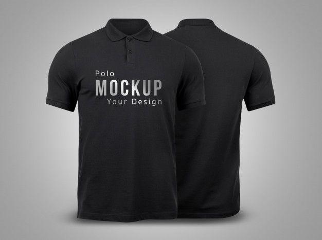 Black Polo Mockup Front And Back Mockup Free Psd Mockup Psd Black Polo