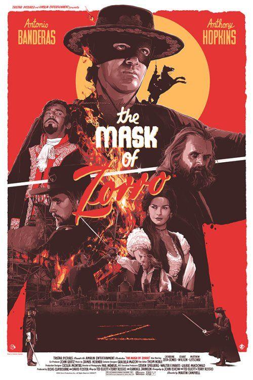 As ilustrações de cartazes de filmes de Grzegorz Domaradzki - The Mask of Zorro (A Máscara do Zorro)
