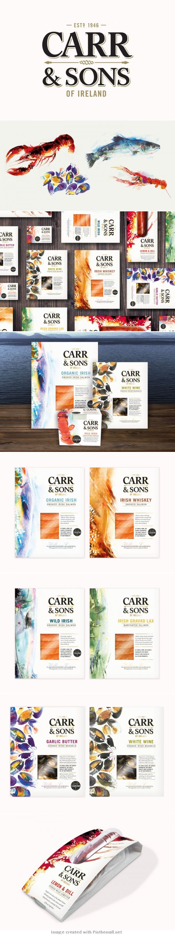 Corporate Design: Carr and Sons // Designed by Honey, UK // Art Work by Philipa Sincliar