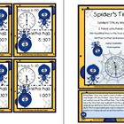 Time: Spiders Sticky Web Time Book and Sticky Web Time Games! This product contains: both I Have You Have games and two black and white books fo...