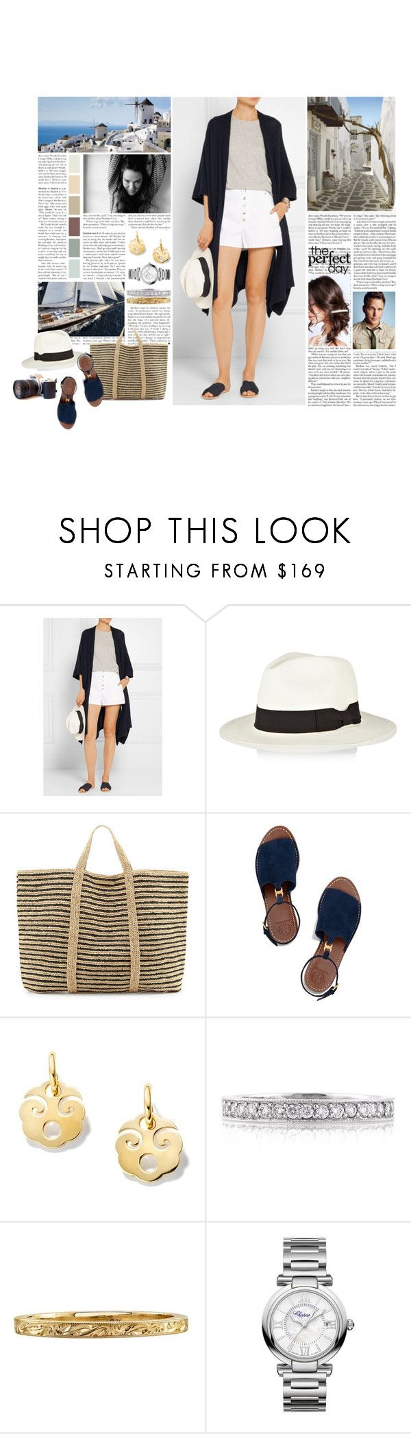 """""""Untitled #2889"""" by duchessq ❤ liked on Polyvore featuring Madeleine Thompson, Sensi Studio, ViX, Tory Burch, Mark Broumand, Chopard and Dream Collective"""
