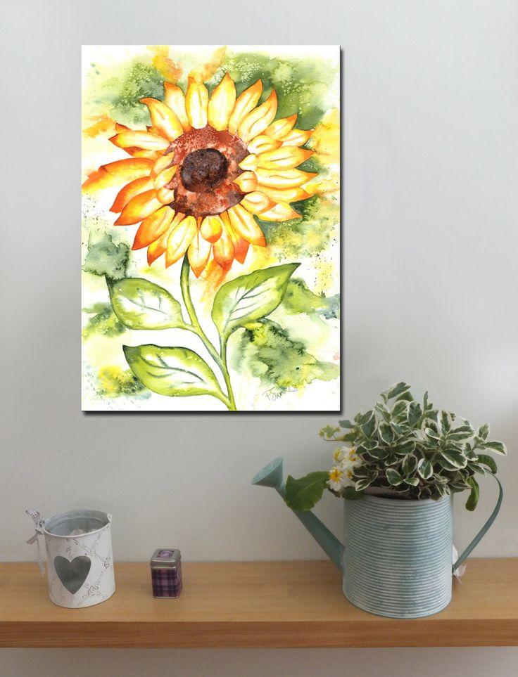 SUNFLOWER SPLASH http://www.splashyartystory.com/shop/art-prints/sunflowers-art-print-of-painting/