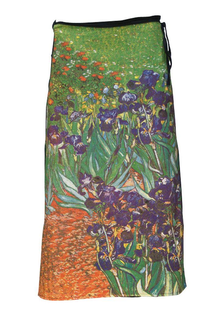 Art Wrap Skirt Irises