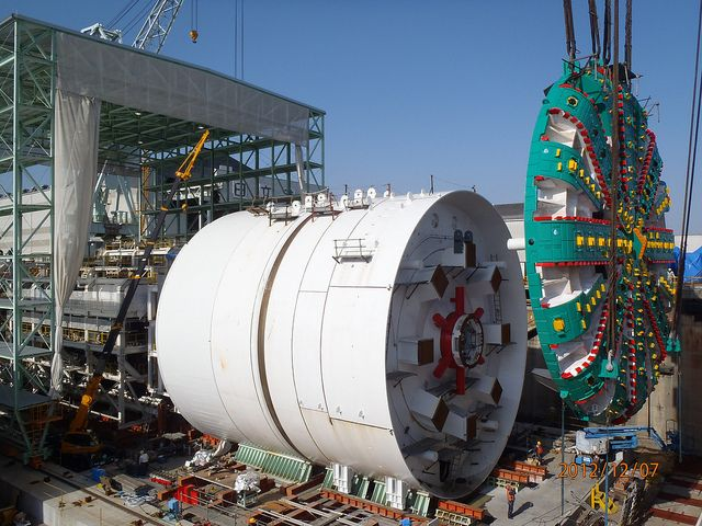 'Bertha', the world's largest tunnel boring machine.  She clears a subterranean tunnel that measures 57.5 feet.  How else can we combat the Mole-People?