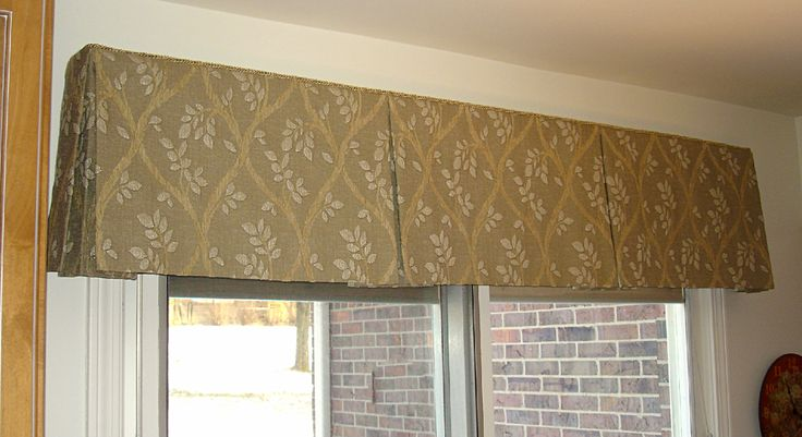 Valances for kitchen windows box pleated valance posted for Kitchen valance ideas pinterest