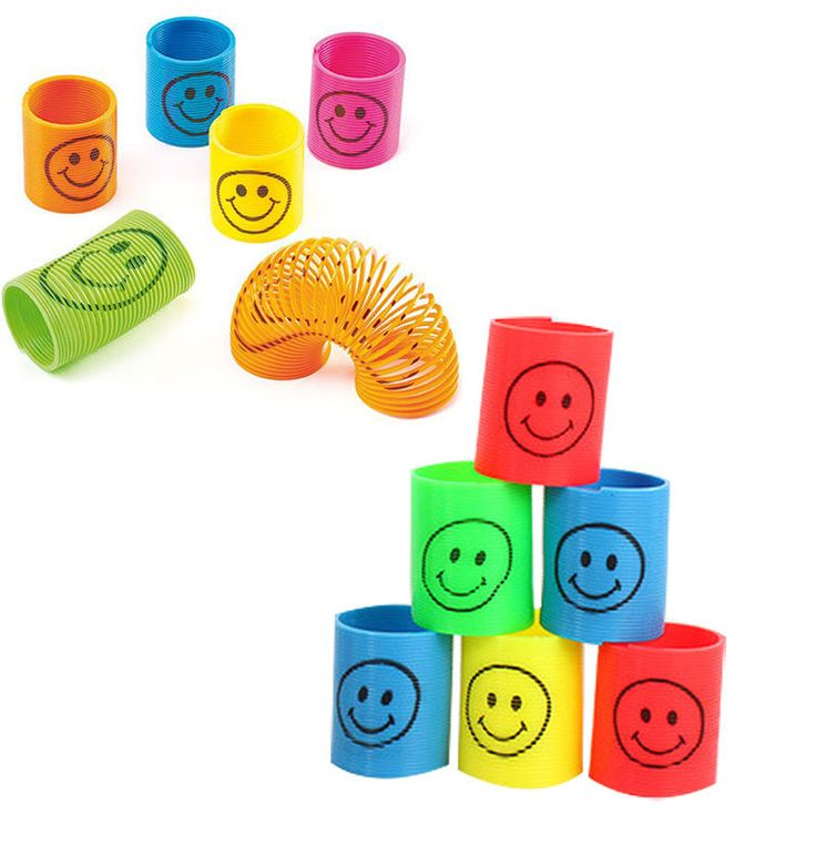 12PC Slinky Smiley Mini Springs Party Bag Fillers Wedding Kids Prize Toy #Unbranded
