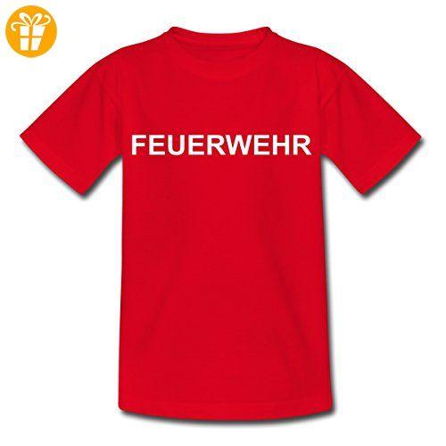 Schriftzug Feuerwehr Aufschrift Helfer Kinder T-Shirt von Spreadshirt®, 98/104 (3-4 Jahre), Rot - T-Shirts mit Spruch | Lustige und coole T-Shirts | Funny T-Shirts (*Partner-Link)