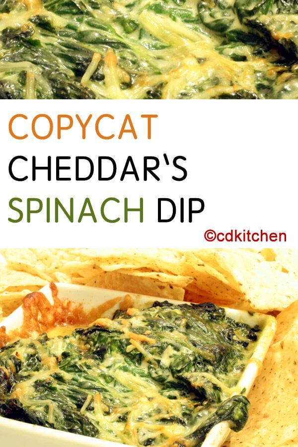 Made with half and half, Monterey jack cheese, cream cheese, green chili peppers, onion, jalapeno pepper, frozen spinach | CDKitchen.com
