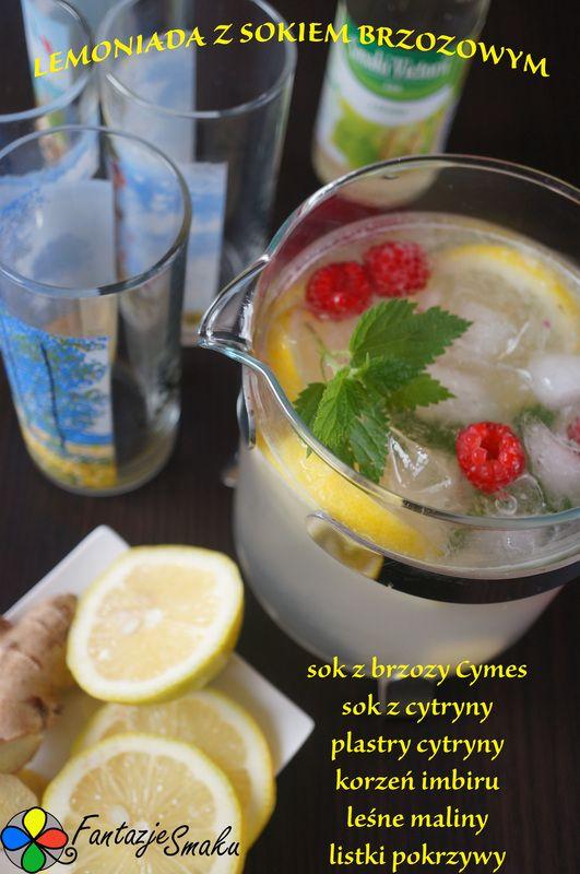 Lemoniada z sokiem brzozowym http://fantazjesmaku.weebly.com/blog-kulinarny/lemoniada-z-sokiem-brzozowym
