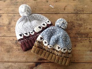 """Baa-ble Hat"" knitting pattern by Donna Smith for Shetland Wool Week 2015.  Cute winter hat with sheep design."