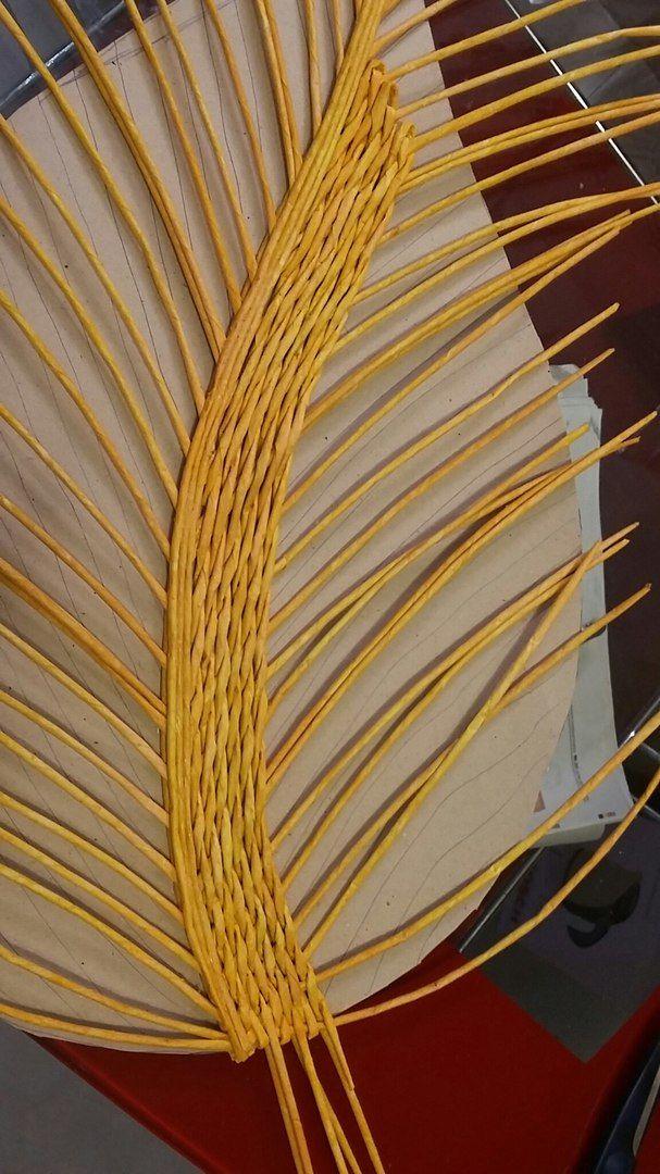 levél tálca Процесс создания корзины - листика. Мастер класс по плетению