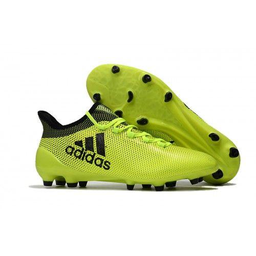 Mejor Zapatos Futbol Adidas X 17.1 FG Verdes Negras | Fondos