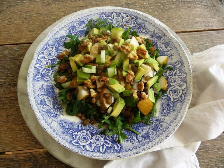 Groene linzen salade