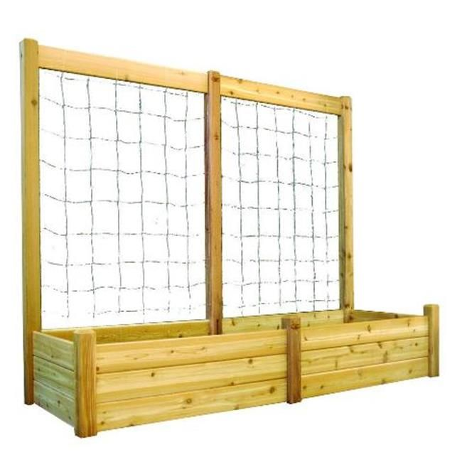 Gronomics Unfinished Raised Garden Bed with inch Trellis Kit -- Click on the image for additional details.