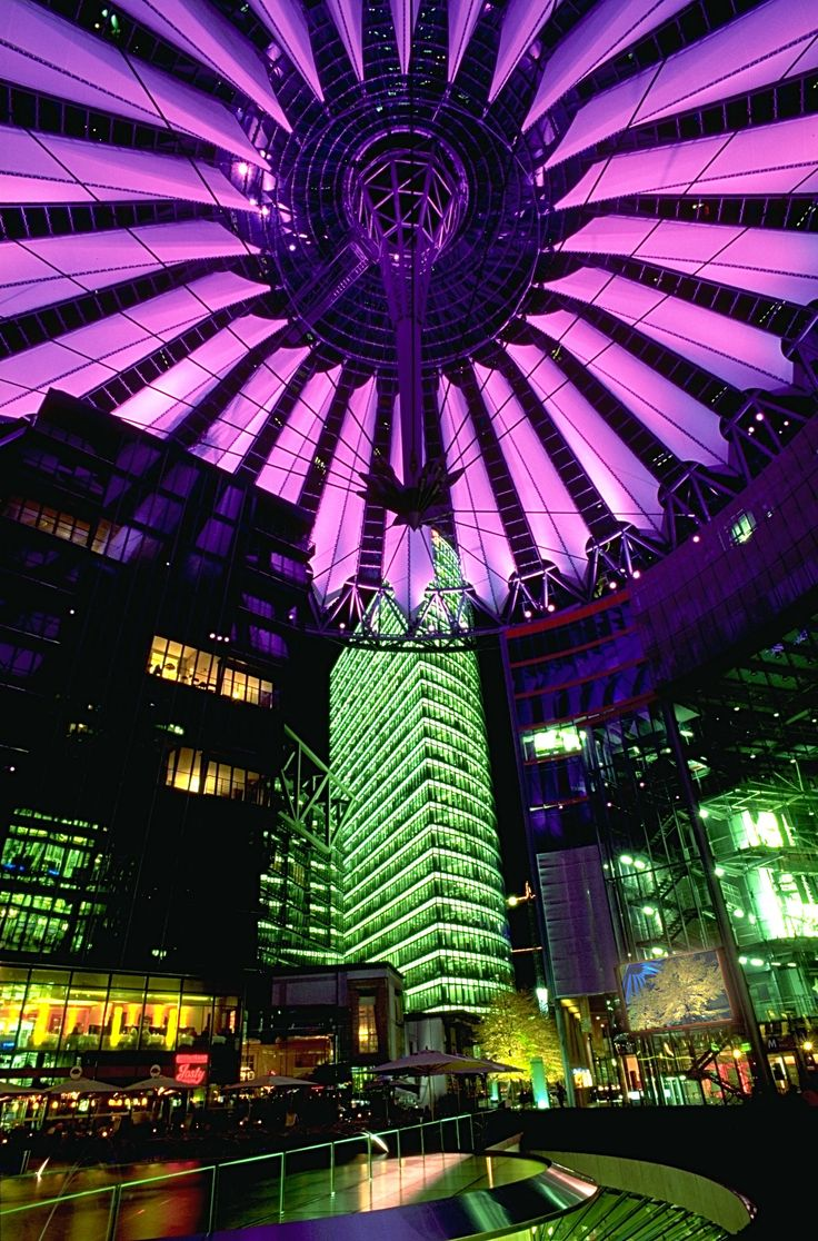 Because we have one of the commercial points most colorful - Sony Center #berlin