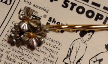 Vintage Hand Made Recycled Hair Pin Jewelry FREE by thineintime