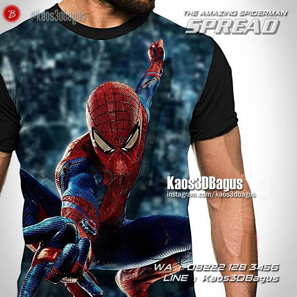 Kaos SPIDERMAN, Kaos3D, Kaos SUPERHERO, The Amazing Spiderman, Kaos Gambar Spiderman, Kaos Karakter, Kaos Anak, https://kaos3dbagus.wordpress.com, WA : 08222 128 3456, LINE : Kaos3DBagus