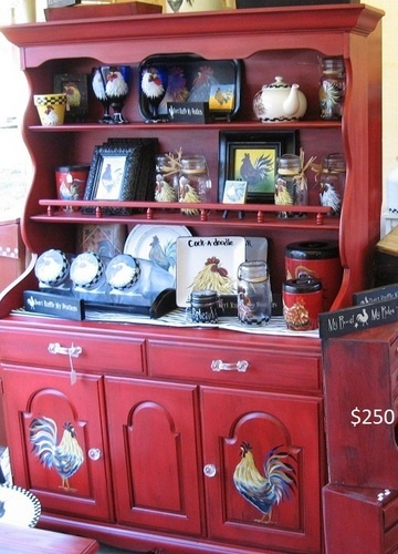 Love This   Rooster China Cabinet