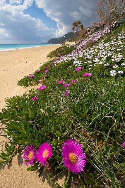 Lousta Vrachos Beach during spring time, Epirus, Greece