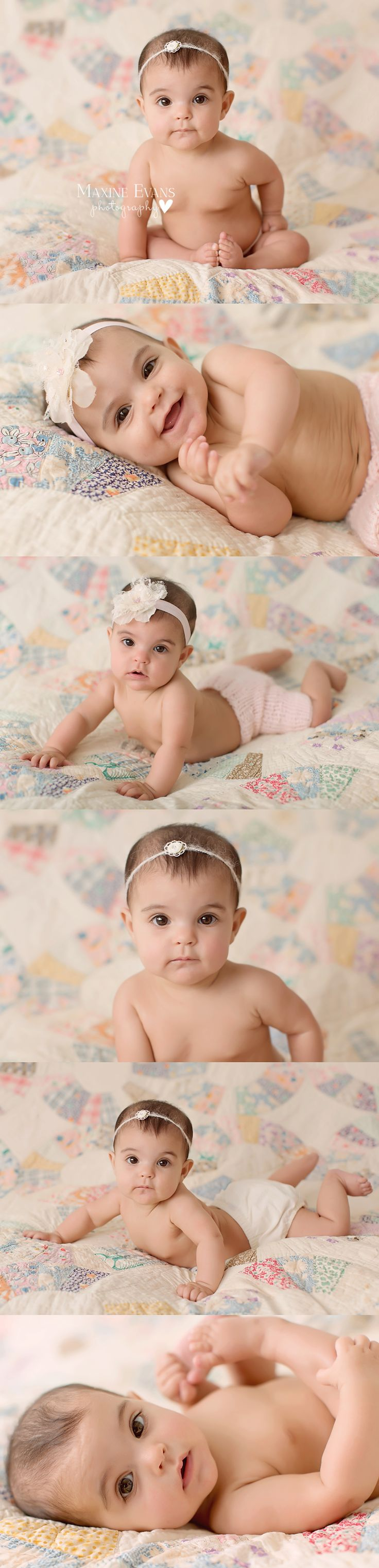 Milestone Pictures, 5 month old baby. Thousand Oaks Baby Photography. Los…