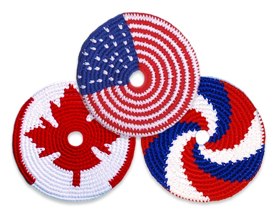 Just in time for Independence Day and Canada Day! Limited Edition! Get them now! #kickstarter #pocketdisc #july4th #independenceday #toys #design