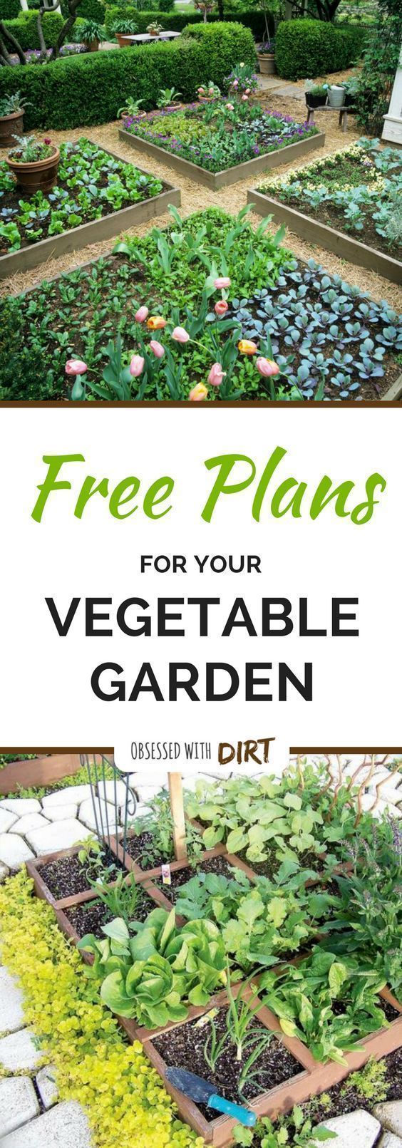 gardening design. Four super easy vegetable garden layouts  There s one for every size with very clear 3449 best Gardening Design images on Pinterest Dream