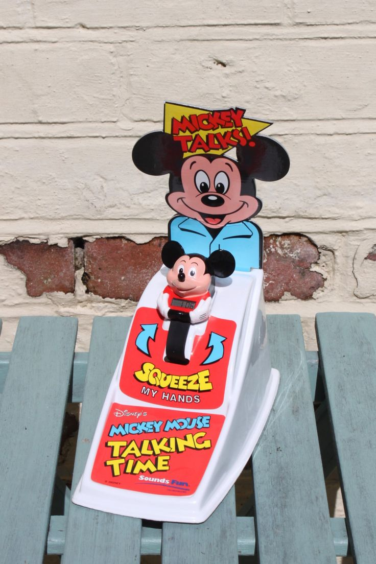 Talking Mickey Mouse Watch with Display Stand, Rare and HTF Disney Collectable c1991 by AtticBazaar on Etsy
